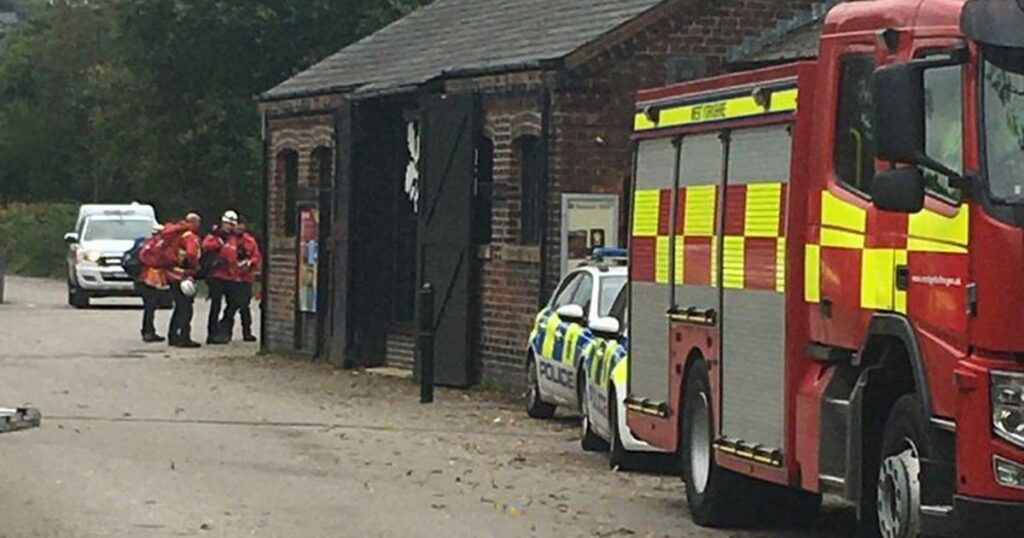 What's happening at Standedge Tunnel with firefighters, police and mountain rescue in Marsden